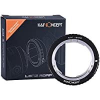 K&F Concept Lens Mount Adapter, Contax Yashica C/Y Lens to Canon EOS EF Adapter, for Canon EOS 1D, 1DS, Mark II, III, IV, 5D, Mark II, 7D, 30D, 40D, 50D, 60D, 70D, Digital Rebel T2i, T3, T3i, T4i, T5i, SL1, 300D, 350D, 400D, 450D, 500D, 550D, 1000D