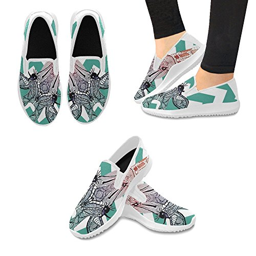 D-Story Shoes Fashion Slip-On Womens Canvas Sneakers Giraffe 0WRiC8lvl