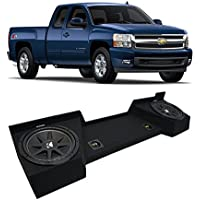 2007-2013 Chevy Silverado Ext Cab Truck Kicker Comp C12 Dual 12 Sub Box Enclosure - Final 2 Ohm