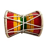 Indian Religious & Traditional Handmade Decorated Lord Shiva 4 Inch Damaru/Damroo Kids Playing Musical Instrument Instruments 4 Inch Multicolor Damru/Damroo