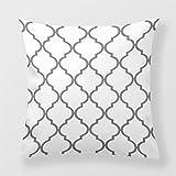 Lightinglife Cotton Throw Pillow Geometric Trellis Quatrefoil Layout Pillow Cushion Cover Graphic Moroccan Trellis Quatrefoil Quatrefoil Lattice Trellis Bold Pattern Cushion Cover 20 X 20