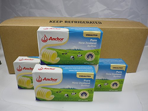 Anchor Butter New Zealand, Unsalted Case of 20, 8oz Packs by Anchor Butter New Zealand Unsalted Case