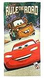 Disney/Pixar Cars Rule The Road 100% Cotton Beach, Bath, Pool Towel, 28' x 58'
