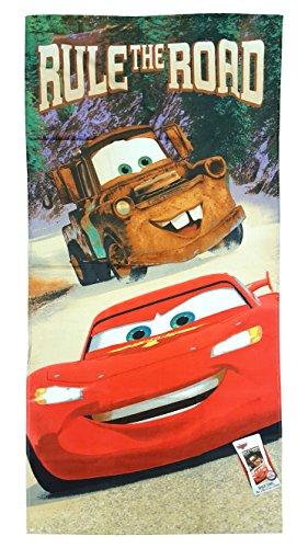 Cotton Disney Towels - Disney/Pixar Cars Rule The Road 100% Cotton Beach, Bath, Pool Towel, 28