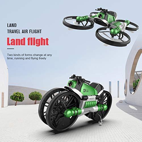 Majome 2 en 1 Plegable RC Quadcopter Drone 2.4G Motocicleta de ...