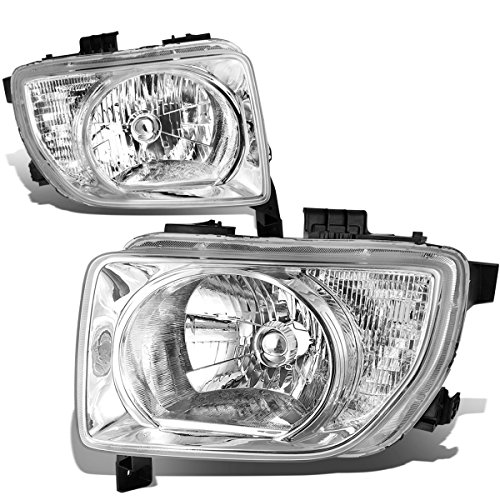 For Honda Element SC SUV AT Pair of Chrome Housing Clear Corner Headlight Lamp