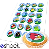24 x Angry Birds Edible Cupcake Cake Toppers Decorations