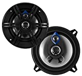 Planet Audio PL53 Pulse 200 Watt (Per Pair), 5.25 Inch, Full Range, 3 Way Car Speakers (Sold in Pairs)