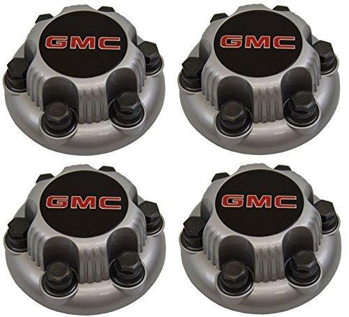 (Set of 4 SILVER GMC Sierra Yukon Savana 6 Lug 1500 Center Caps 16