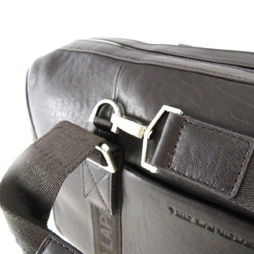 Leder reisetasche 'Ted Lapidus' braun vintage.
