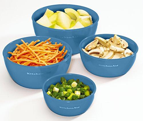 Kitchenaid Prep Bowls with Lids, Set of 4, Ocean Blue by KitchenAid (Image #3)
