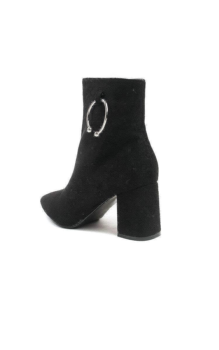 IKRUSH Womens Joslin Stretch Heeled Ankle Boots