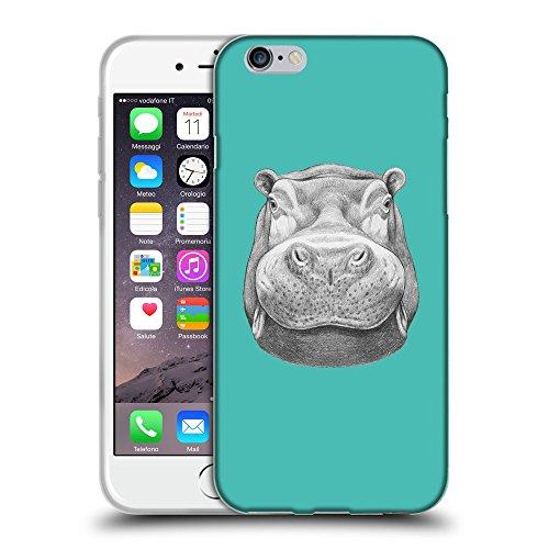 "GoGoMobile Coque de Protection TPU Silicone Case pour // Q05270634 hippopotame 2 Turquoise // Apple iPhone 6 PLUS 5.5"""