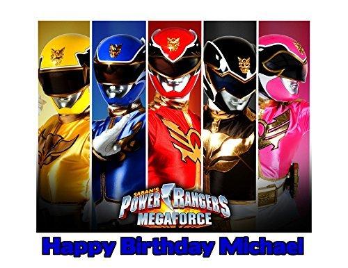 (Power Rangers Megaforce Image Photo Cake Topper Sheet Personalized Custom Customized Birthday Party - 1/4 Sheet - 79766 )