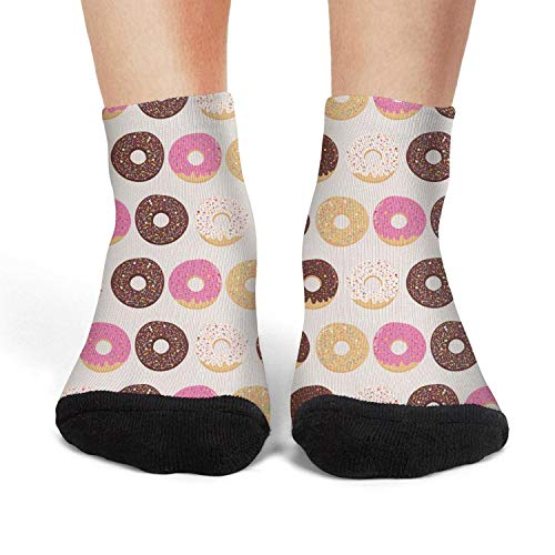 Women's Athletic Crew Socks Multi-color Dessert Donuts Egg Cake Cream 2018 Wool Socks]()