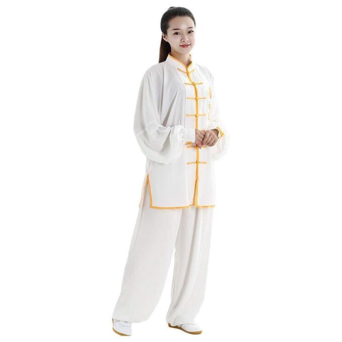 Amazon.com: ZOOBOO Unisex de algodón y seda dragón bordado ...