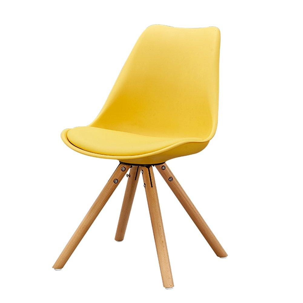 背もたれカジュアルウッドダイニングチェア家庭用カフェ西洋料理ホテルアダルト近代的なシンプルな北ヨーロッパの椅子 (色 : イエロー いえろ゜, サイズ さいず : Set of 4) B07F3L3L3Q Set of 4|イエロー いえろ゜ イエロー いえろ゜ Set of 4