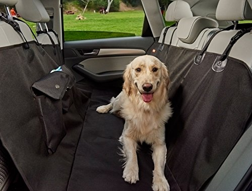 Wag Mat Dog Seat Cover Pet Seat Cover Car Seat Cover Dogs 100% Waterproof, Deluxe Heavy Duty Sturdy Canvas | Hammock Design Quick Easy Installation Cars, SUV Trucks | Machine Washable