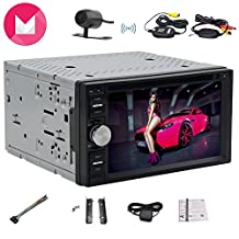 Wireless Camera included Android6.0 Mashmallow Quad-Core 1.6Ghz with Bulit-in WIFI Model Car Monitor Support 5 Point Touch Capacity Screen Car Entertainment Support Steering Wheel/Mirror Link/OBD2/SD