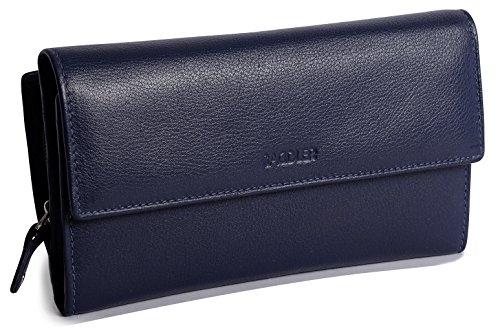 SADDLER Womens Leather Oversize Trifold