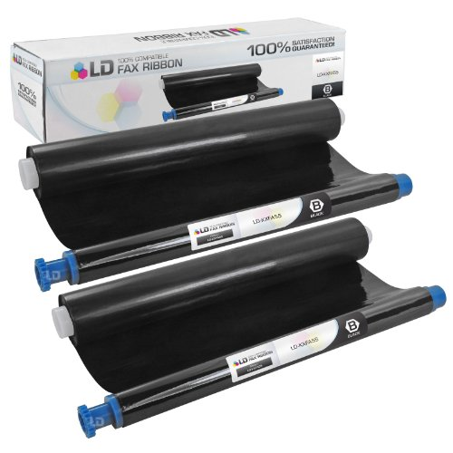 Panasonic Inkjet Fax Machines - LD Compatible Replacement for Panasonic KX-FA55 2PK Black Fax Refill Rolls for Panasonic KX FP151, FP152, FP155, FP80, FP81, FP85, FPC165, FPC91, FPC95, FPC96, FPG175, FPG371, FPG372