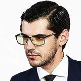 Anti Eyestrain Game Glasses,Computer Anti Blue Ray Goggles - Professional - Glare Blocking (+0.00 (No Magnification)   Regular Size,Green