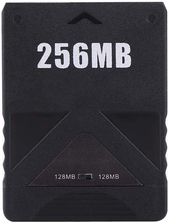 Adaptateur de Carte m/émoire PS2 Yosoo Health Gear Carte m/émoire PS2 256 Mo 256M Fonctionne avec la Norme pour PS2 et la Version Slim Line