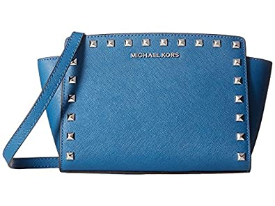 a997e00461338 Amazon.com: MICHAEL KORS Saffiano Leather Medium Stud Selma ...
