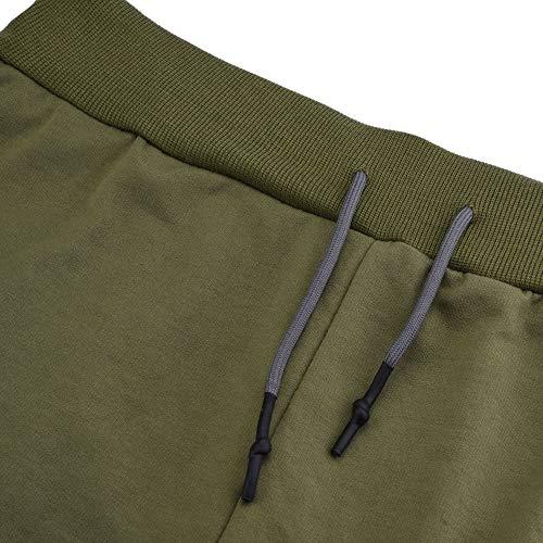 Slim Sport Poche Longues armée Avec Couleur Fit Cargo Coton Jeans Chino Grande Legging Casual Jogging Unie Chic Solike Pantalon Taille Homme Vert H1Uw0xz