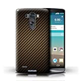 STUFF4 Phone Case / Cover for LG G3/D850/D855 / Gold Design / Carbon Fibre Effect/Pattern Collection