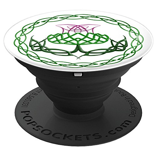 Scottish Thistle Celtic Knot - PopSockets Grip and Stand for Phones and Tablets