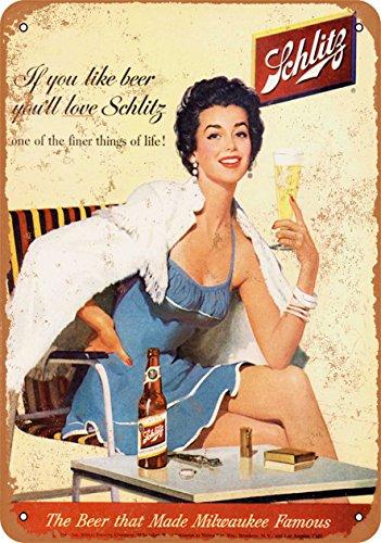 TAL SIGN - Schlitz Beer - Vintage Look Reproduction (Schlitz Beer)