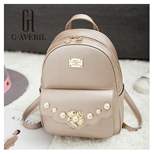 G-AVERIL GA1068-N - Bolso mochila para mujer dorado dorado dorado