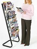 """57"""" Floor-Standing Wire Magazine Rack, 20"""