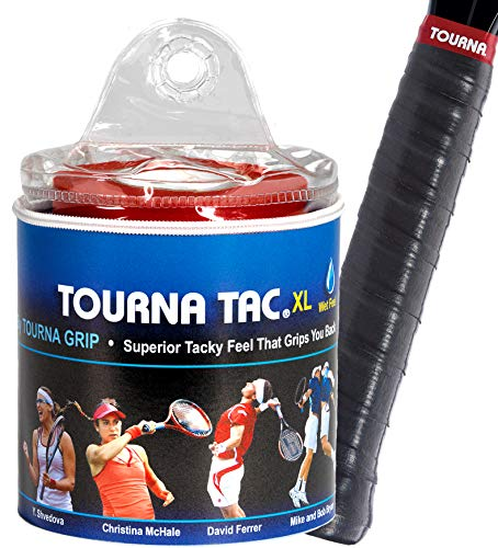 Tourna Tac Overgrip Pack of 30 (Black, X-Large)