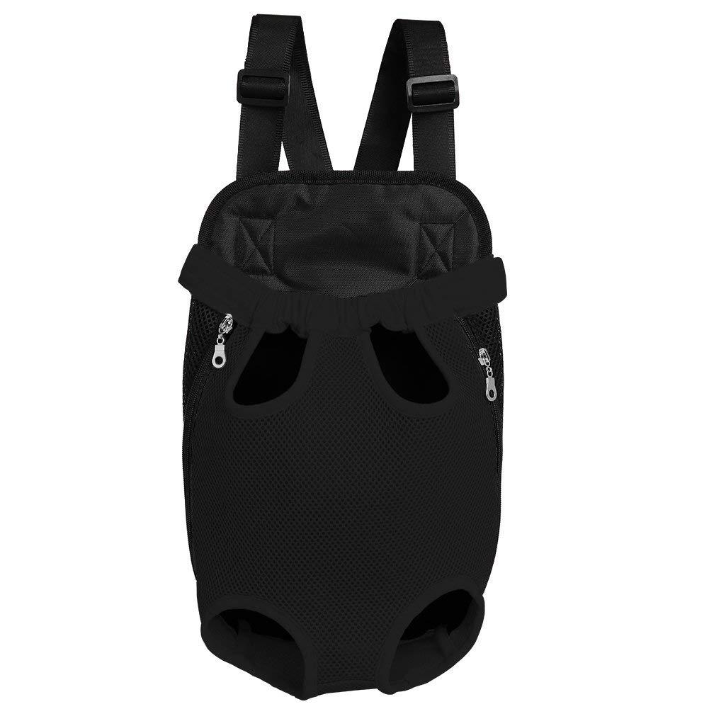 Black Large Black Large Dog Carrier Backpack Legs-Out Front Pet Dog Carrier,Hands-Free Adjustable Backpack Travel Bag for Small Medium Puppy Doggie Cat Bunny Breeds Outdoor