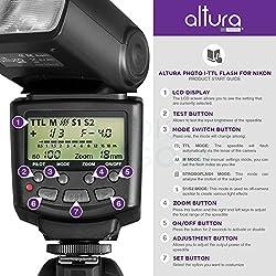 Altura Photo Professional Flash Kit For Nikon Dslr - Includes: I-ttl Flash (Ap-n1001), Wireless Flash Trigger Set & Accessories 2