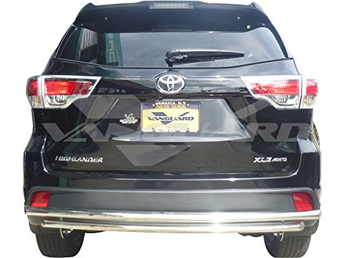 Vanguard VGRBG-0779SS VGRBG-0779SS 2014-2017 Toyota Highlander Rear Bumper Guard Double Layer Stainless Steel