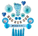 Baby Shower Decorations for Boy - Set Includes It's a Boy! Banner, Balloons, Paper Fans, Honeycomb Paper Balls, and Paper Tassels.