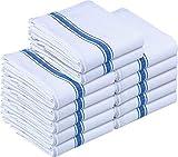 Kitchen Towels Dish Cloth (12 Pack) Machine Washable Cotton White Kitchen Dishcloths Towel