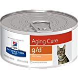 Hill's Prescription Diet g/d Aging Care with Turkey Canned Cat Food 24/5.5 oz
