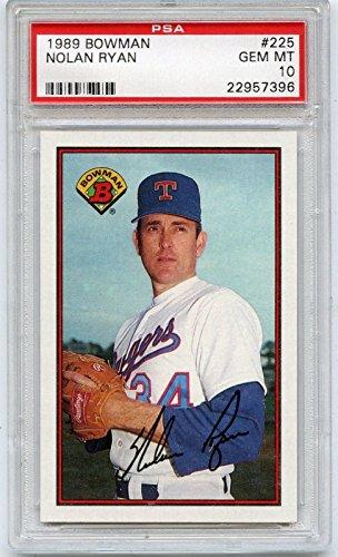 1989 bowman #225 NOLAN RYAN texas rangers PSA 10 Graded Card