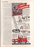 Model Toys Grader Crane Euclid Aerial Ladder ad 1950