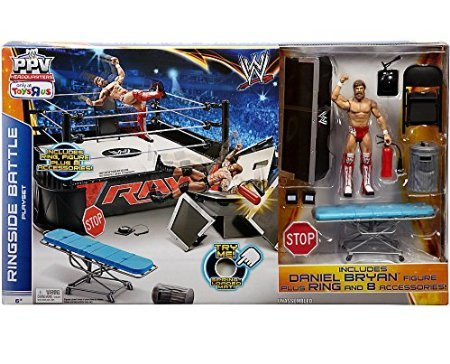 Mattel WWE Wrestling Ring Exclusive Playset PPV Ringside Battle Ring [Includes Daniel Bryan Figure] by 5Star-TD