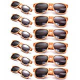 12 Packs Wholesales 80's Retro Style Neon Party Sunglasses 400 UV Protection for Party Favors,Photo Booth Prop,Goody Bag Favors,End of Year Giveaway,Birthdays Gifts for Mam & Women (12 Orange)