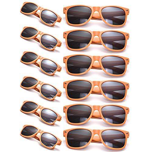 (12 Packs Man Women Retro Wholesales Neon Party Favor Sunglasses)