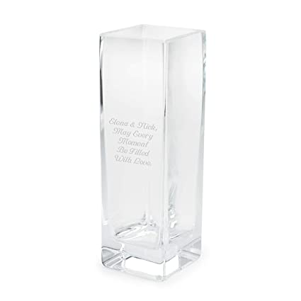 225 & Things Remembered Personalized European Handblown Glass Tall Flower Vase with Engraving Included