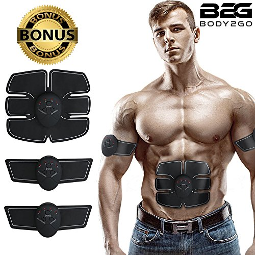 UPC 742833328127, ABS Stimulator & Muscle Toner Ultimate Portable Unisex Abdominal Home Office Fitness Workout equipment Massage Toning Belt for Abdomen/Arm/Leg Training – FREE GIFTS