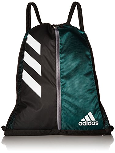 adidas Team Issue Sackpack, Dark Green/Black, One Size