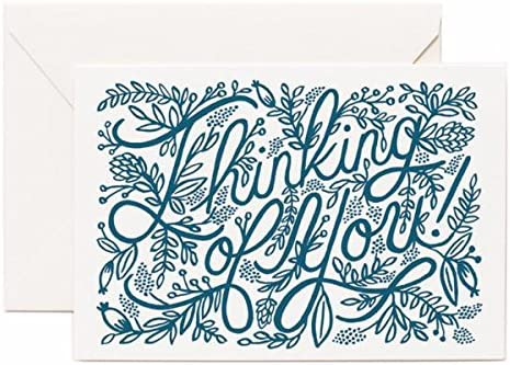 Thinking Of You Letterpress Card Rifle Paper Co